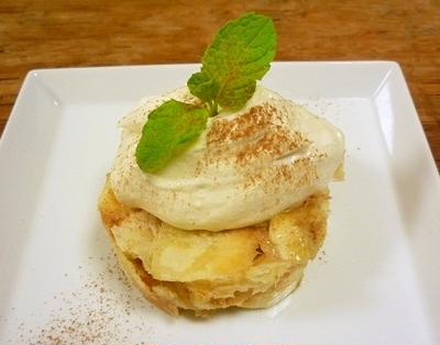 豆腐クリームのバナナパイ
