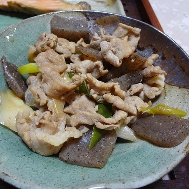豚肉 長ネギ こんにゃくの炒め物