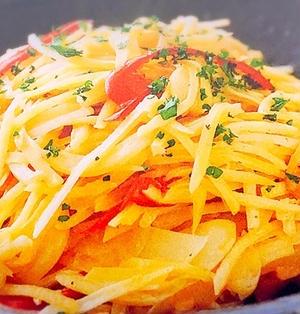 ジャガイモとツナの炒めサラダ
