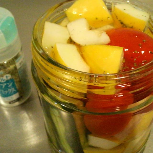 イタリアンハーブミックス&らっきょう酢で作る簡単☆ピクルス