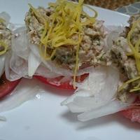新玉ねぎとツナのサラダ(レシピ)