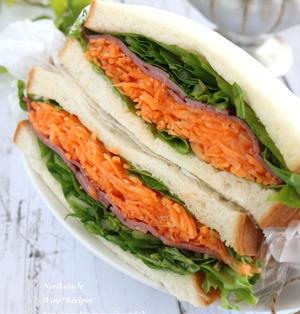 にんじんの千切りサラダ「キャロットラペのサンドイッチ」