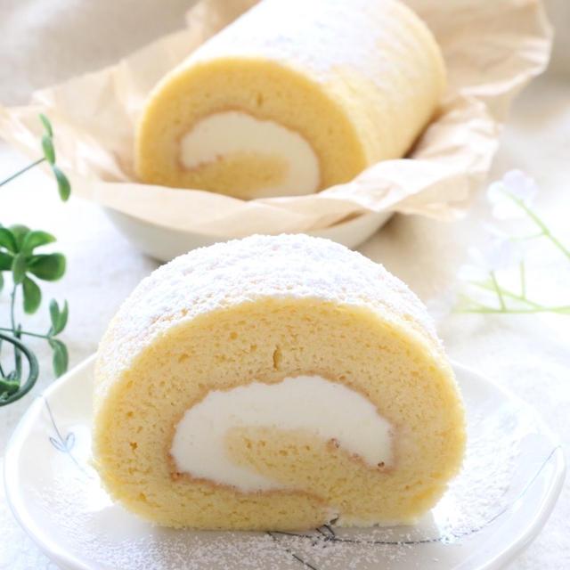 天ぷら粉で作る♡純正ロールケーキレシピ