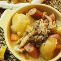 切って煮込んで完成!野菜のうまみが溶け込む絶品スープ!「野菜たっぷりミルク味噌ポトフ」レシピ