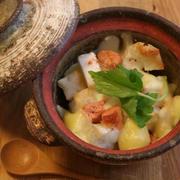 柚子風味「山芋と明太子の餅チーズグラタン」