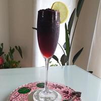 粒々ブラックベリーの幸せ❤︎&グランマニエの香り♪ 〜ガラナ・アンタルチカカクテル〜