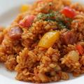 【再現レシピ】デニーズのジャンバラヤがもう一度食べたくて作ってみた!!☆使い切れないスパイスのレシピも!