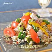 雑穀米と野菜のサラダ♪