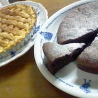 前回作ったガトーショコラ・・・・・とアップルパイ