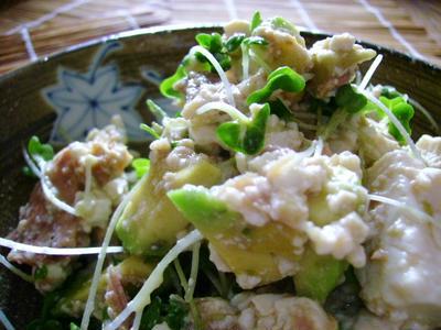 豆腐&アボカドサラダわさびソース和え