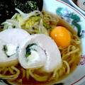鶏ハムと冷凍卵の醤油ラーメン(^^♪ by ☆s4☆さん