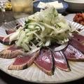 カツオのお刺身で簡単カルパッチョ♪買った刺身も手軽に見栄え良く美味しく(*≧艸≦)