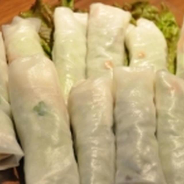 ピリ辛豚ひき肉の生春巻きのレシピ