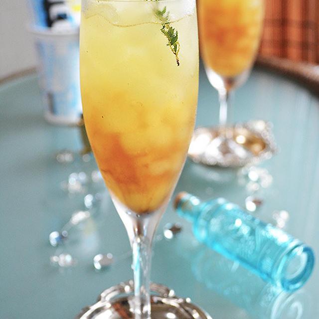 紅茶ブランデー×ICE BOX グレープフルーツ味 爽やか夕暮れカクテル #cocktail