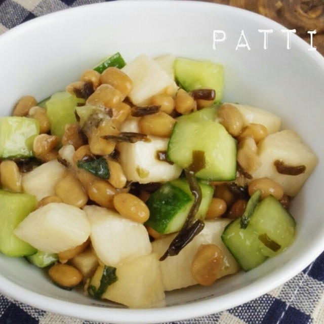【間違いない組み合わせ!】☆簡単☆長芋と納豆の塩昆布サラダ