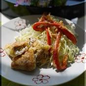 白身魚の湯葉巻き天 柚子胡椒風味