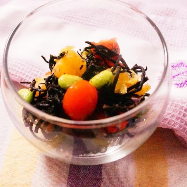 【レシピ】ひじきと夏みかんのデリサラダ