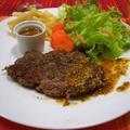 牛薄切り肉の節約ステーキ