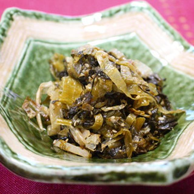 365日糖質オフレシピNo.151「高菜炒め」