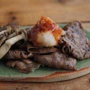 簡単♪牛薄切り肉で甘辛おろしのすき焼き風