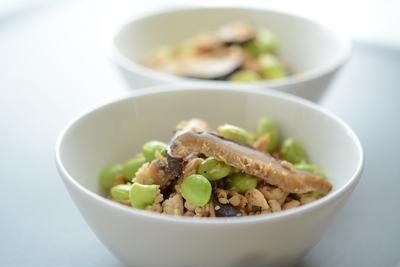 乾し椎茸と枝豆入り鶏そぼろ