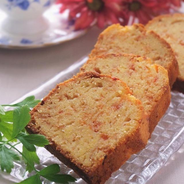 ピンクグレープフルーツとシナモンのパウンドケーキ