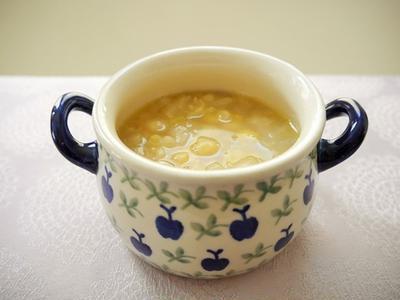 シンプルに~♪ ひよこ豆と玉ねぎのスープ