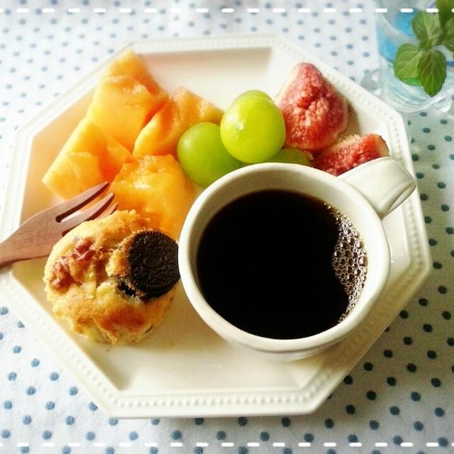 常備スイーツ♬冷凍バナナマフィンde美味しいモーニング~♡(*´ε`*)チュッチュ♡