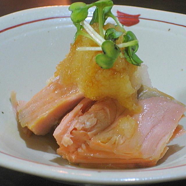 ゆで鮭のおろしポン酢和え