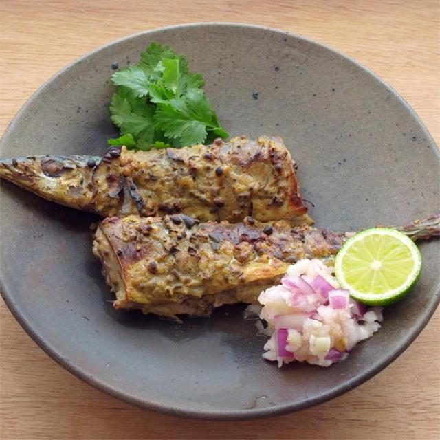 タンドリー秋刀魚