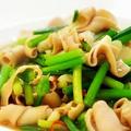 韭菜炒鴨腸│ニラと鴨モツ炒め