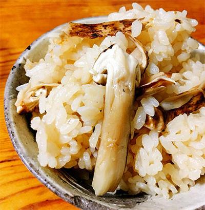 見切り品のマツタケで松茸ご飯♪