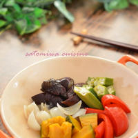 おだしの旨味で!夏野菜の彩り和風マリネ