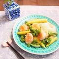 【ヘビロテ*レシピ】 海老とグリーンピースの旨塩レモンペッパー炒め