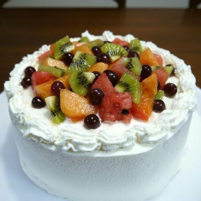 夏のフルーツデコレーションケーキ♪