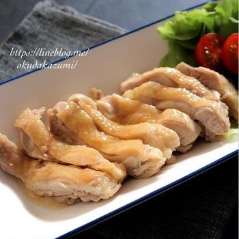 【レンチン6分で完成!】鶏のさっぱり柔らかポン酢煮
