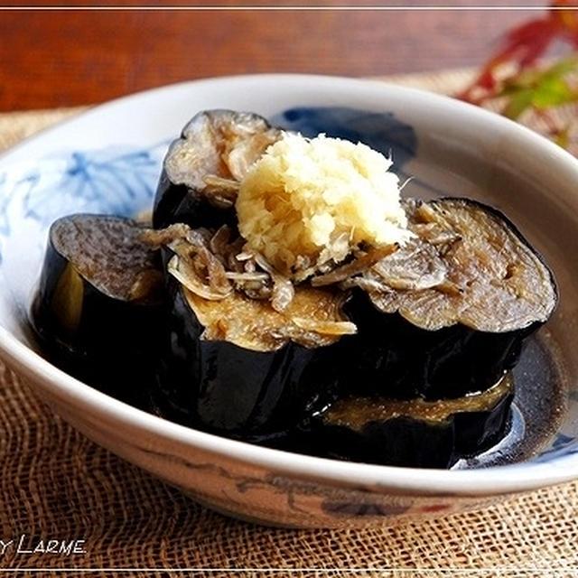 めんつゆで絶品? 揚げ茄子と桜海老の含め煮