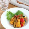 食欲そそる☆お弁当にも◎夏野菜のハリッサバター炒め by kaana57さん