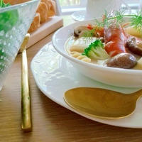 海老と長芋とヨーグルトでクリームチャウダースープ