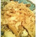 椎茸ともやしのふんわり豆腐丼
