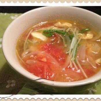 *親子丼&卵とトマトのスープ*