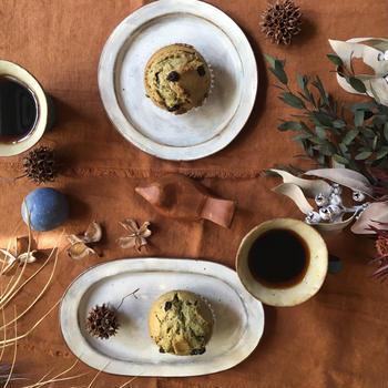 抹茶とホワイトチョコレートのマフィン