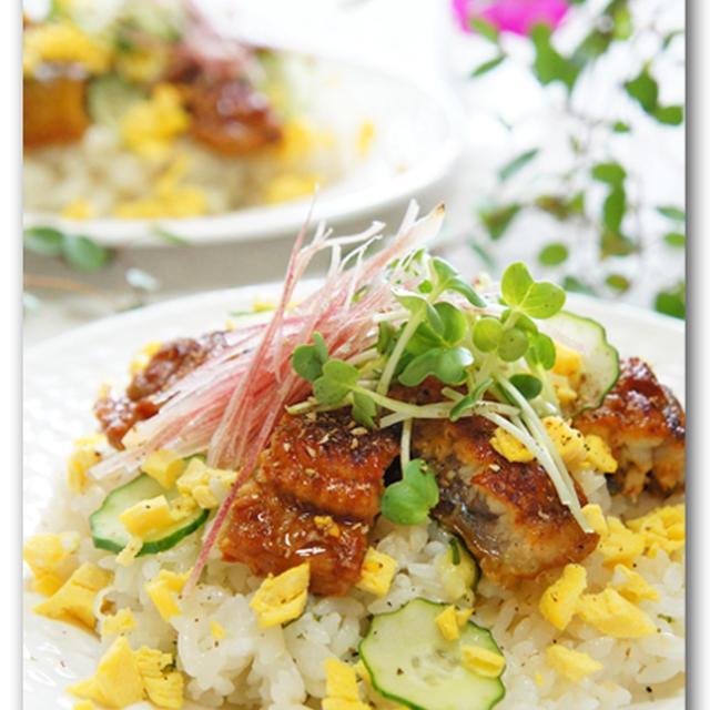 鰻ときゅうりとみょうがのばら寿司