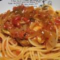 <鶏むね肉のトマトソーススパゲッティー(セロリ塩入り)>スパイス大使