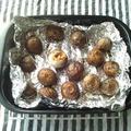 和平フレイズのグリルパンで、里芋のグリルパン焼き