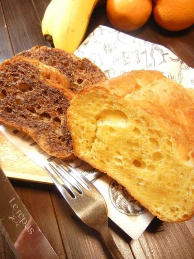 フレンチトースト(ココア/メープルシロップ)