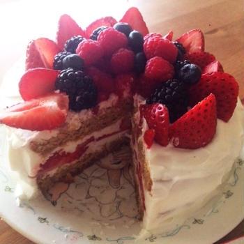 美味しいケーキ2つ作ったよ♡