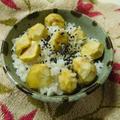 新米ともち米で、モチモチ栗ご飯炊きました♪