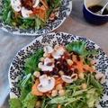 玄米甘酒とバルサミコ酢のドレッシングサラダ