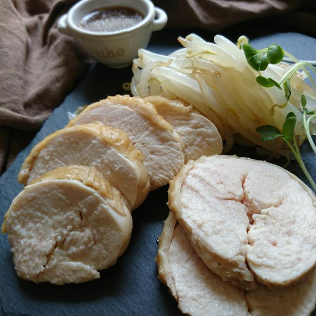 焼肉のたれで簡単はやうま〜鶏むね肉のチャーシュー(作りおき常備菜)〜